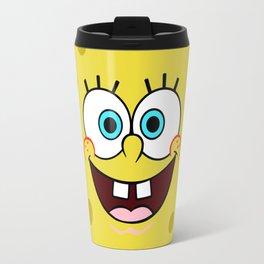 Spongebob Face Travel Mug