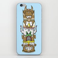 totem iPhone & iPod Skins featuring totem by ybalasiano
