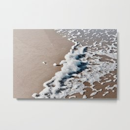 Foam on the beach on the Sunshine Coast Metal Print