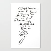 dumbledore Canvas Prints featuring Happiness - Dumbledore  by Hayley Lang