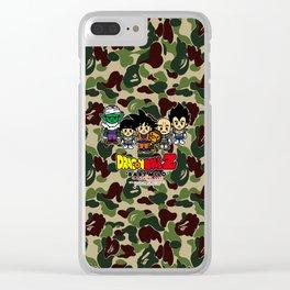 dragon ball bape Clear iPhone Case