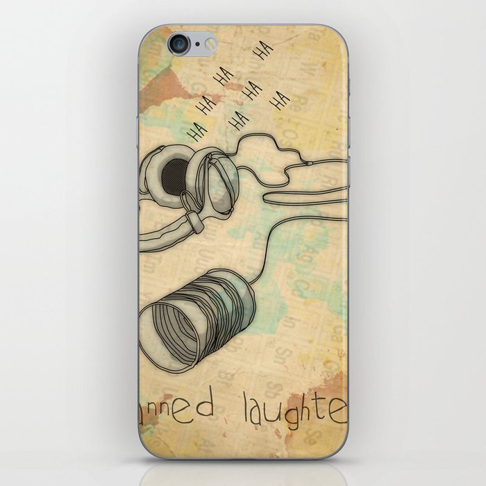 canned laughter _ head phones iPhone Skin
