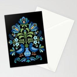 Hungarian Folk Design Blue Birds Stationery Cards