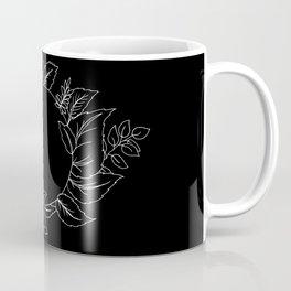 Black Floral Circle Coffee Mug