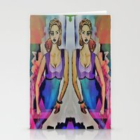 gemini Stationery Cards featuring Gemini by Deb MacNeil