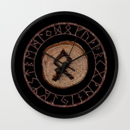 Othala Rune ancestral property, one's homeland or a sense of physical, mental, emotional, spiritual Wall Clock