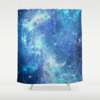 lunar Shower Curtains featuring Lunar by TenelArt