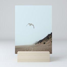 Gull and Foggy Beach Mini Art Print