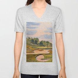 Whistling Straits Golf Course Hole 6 Unisex V-Neck