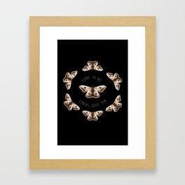 Manifest Moth Framed Art Print