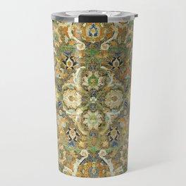 Safavid 'Polonaise' 17th Century Persian Carpet Print Travel Mug