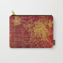 San Jose old map year 1899, united states vintage maps Carry-All Pouch