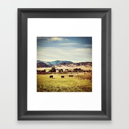On the Landscape Framed Art Print
