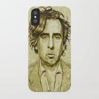 tim burton iPhone & iPod Cases featuring Tim Burton by Renato Cunha