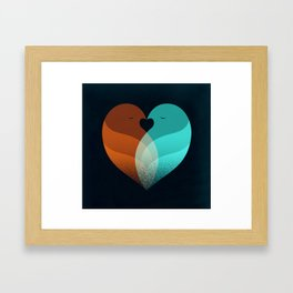 Lovebirds Framed Art Print