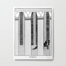 Shakespearean Death Scenes--Cleopatra Metal Print