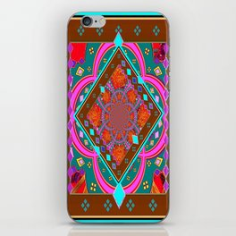 Coffee Brown Turquoise Geometric Wester StyleAbstract iPhone Skin