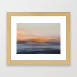 Undulating Sunset Framed Art Print