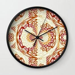 Brown and tan pattern Wall Clock