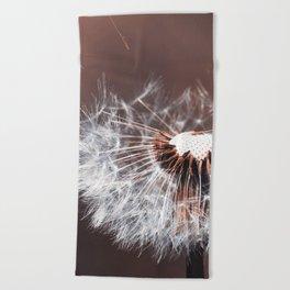 Dandelion Flower Beach Towel