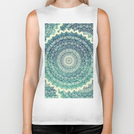 BICOLOR COLD WINTER MANDALA Biker Tank