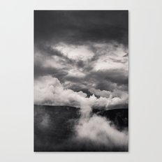 Within a Storm - Black and White Collection Canvas Print