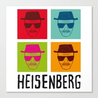 popart Canvas Prints featuring Heisenberg Popart by Nxolab