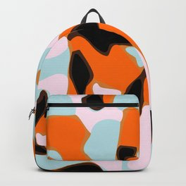 Geometric Camo Pattern In Bright Colors Backpack