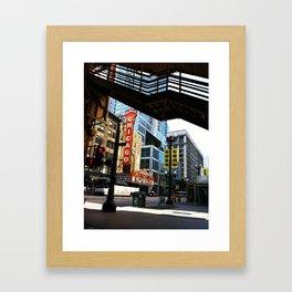 Under State Street Framed Art Print