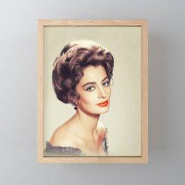 Capucine, Actress Framed Mini Art Print