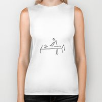 the cure Biker Tanks featuring cure massage by Lineamentum