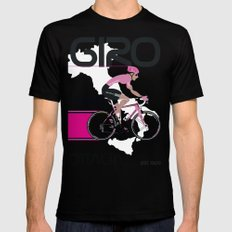 GIRO D'ITALIA Black Mens Fitted Tee MEDIUM