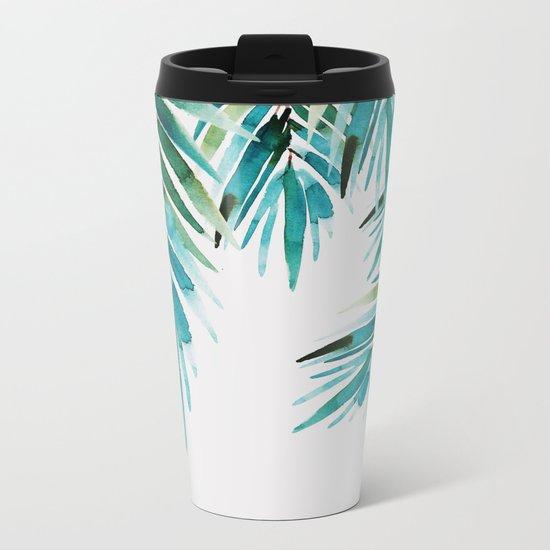Under palm trees Metal Travel Mug
