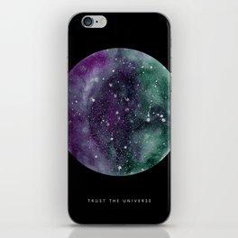 Trust the Universe Black iPhone Skin