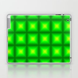 Green Squares Laptop & iPad Skin