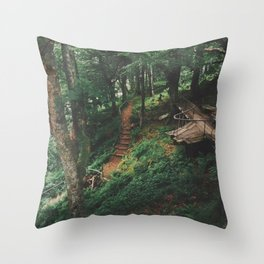 Fairytale Forest, Isle Of Mull Throw Pillow
