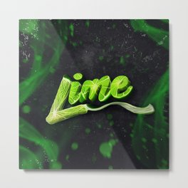 Lime | Lettering Metal Print