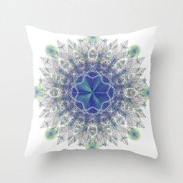 Peacock Star Throw Pillow