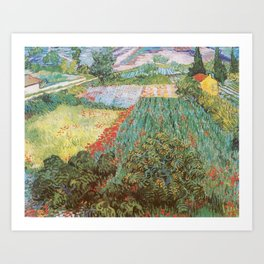 Field with Poppies by Vincent van Gogh Art Print