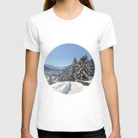 switzerland T-shirts featuring Winter in Switzerland by Design Windmill
