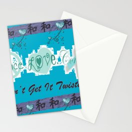 Peace, Love and Consent - Don't Get it Twisted! Stationery Cards