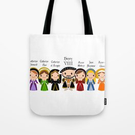 Henry VIII and his 6 Wives Tote Bag