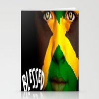 jamaica Stationery Cards featuring Jamaica Love  by GoodVybz