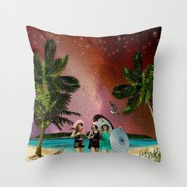 Serenade on the Beach Throw Pillow