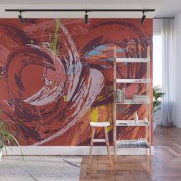 Red Bang Wall Mural