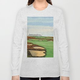 Shinnecock Hills Golf Course With Clubhouse Long Sleeve T-shirt