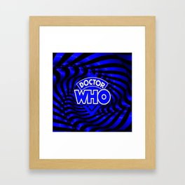 doctor who dimension Framed Art Print