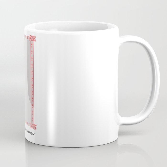 alice and her flamingo s mustache coffee mug by karencox society6