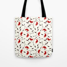 Strange Red Flowers Pattern Tote Bag