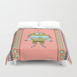 Retro Rocket № 009 Duvet Cover